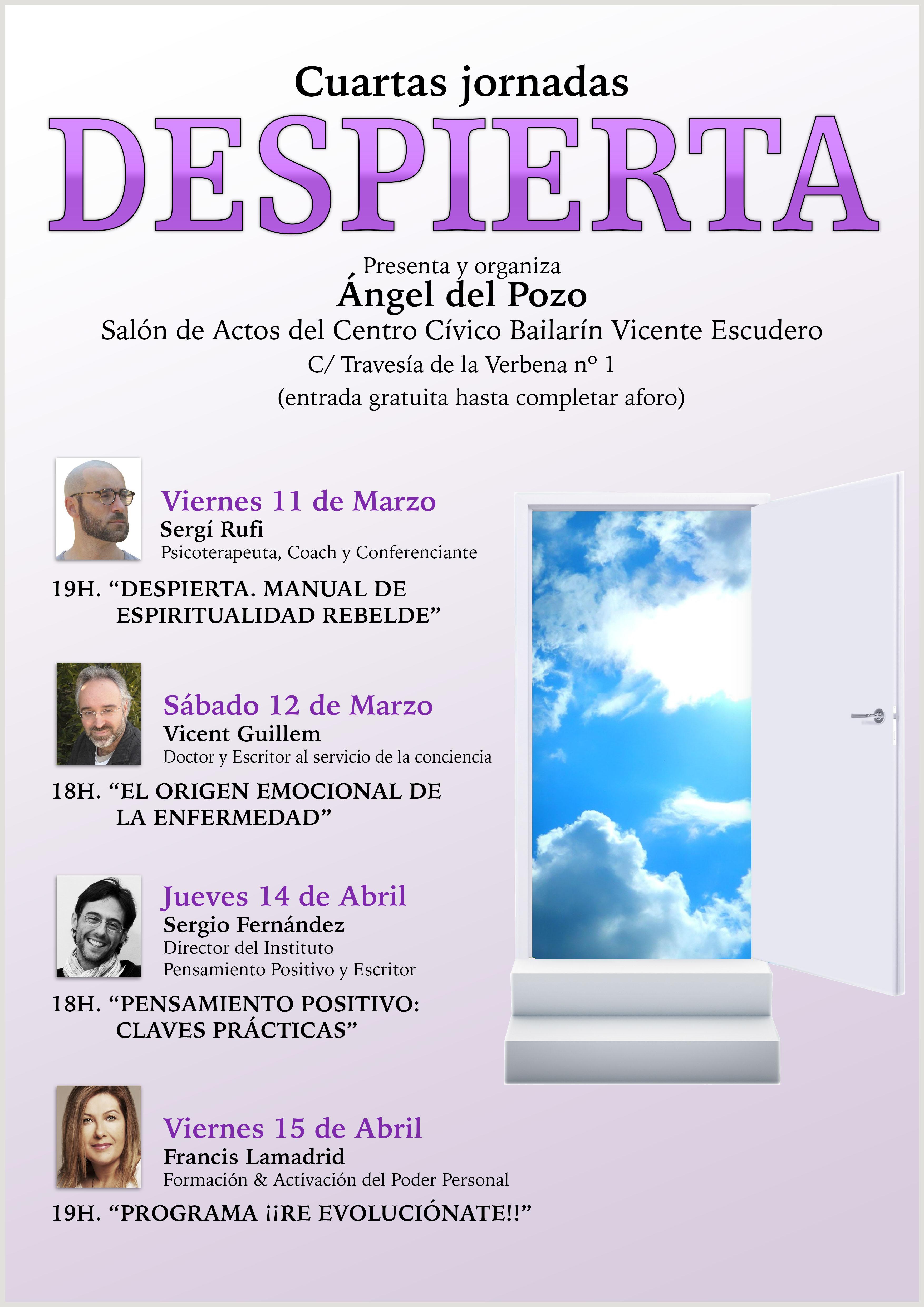 cartel cuartas jornadas marzo y abril